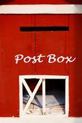 Punainen postilaatikko Kuvituskuvat