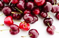 Stock Photo of fresh cherries