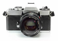 vintage and retro camera - stock photo