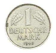 deutschland 1965 one deutch mark coin - stock photo