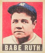 Babe Ruth Baseball Card Stock Illustration