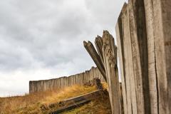 Wooden palisade Stock Photos