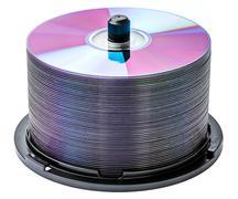 Dvd disc stack Stock Photos
