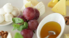 Dish of candy Stock Footage
