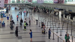 Airport terminal day. Wide shot. Stock Footage