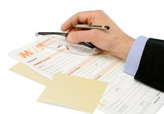 tax forms of the f24 - stock photo