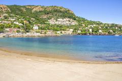 Stock Photo of beach in theoule sur mer, french riviera