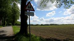Allée on the countyside - stock footage