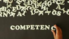 Competence (In German) Stock Footage