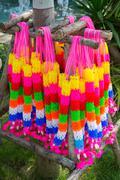 multi color garland - stock photo