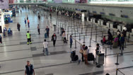 Stock Video Footage of Airport terminal day. Wide shot.
