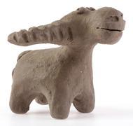 Clay sculpture of a buffalo Stock Photos