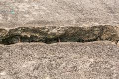 Cracked concrete floor Stock Photos