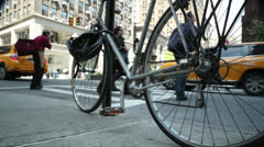 Bicycles in NYC Stock Footage