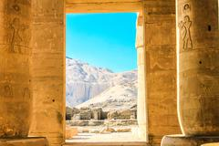 Ramesseum temple, Egypt - stock photo