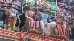India brightly painted Hindu deities Stock Footage