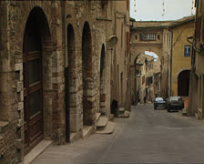 TODI old city typical alley Stock Footage