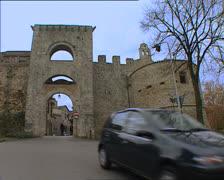 TODI Porta Perugina Perugian gate Stock Footage