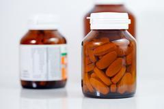 medicine bottles - stock photo