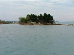 GRADO lagoon camera boat 1 Stock Footage