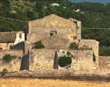 Stock Video Footage of PESCHICI ancient Abbey of Calena pan