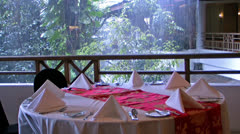 Restaurant outdoor. Stock Footage
