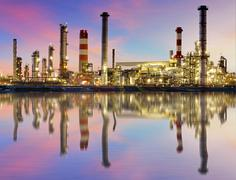 oil industry - refinery plant - stock photo