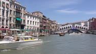 Stock Video Footage of Venice Canal Grande Rialto Bridge - vehicle shot