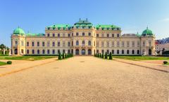 Vienna - belvedere palace with flowers - austria Stock Photos