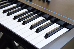 keys of a music keyboard or piano - stock photo
