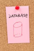 Stock Illustration of database word and symbol