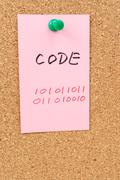 Stock Illustration of code word and symbol