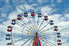 Ferris wheel with space for text Stock Photos