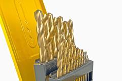 drill in yellow box - stock photo