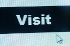 Visit word and cursor Stock Illustration