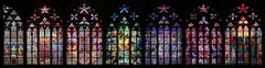 st vitus stained glass window collection - stock photo