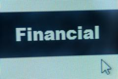 Stock Illustration of financial word and cursor