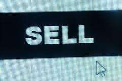 sell word and cursor - stock photo