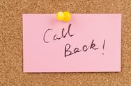 Stock Photo of call back