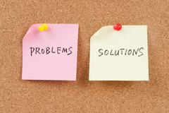 problems and solutions words - stock photo