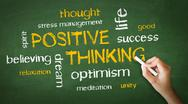 Stock Illustration of positive thinking chalk drawing
