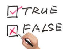 True or false Stock Photos
