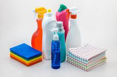 Household scrub set 01 Stock Photos