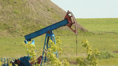 Crude oil production. oil rocking chair Stock Footage