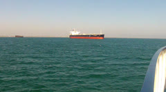 Petro-Chemical Ship Anchored In Long Beach CA Harbor 1 Stock Footage