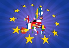 europe stars - stock illustration