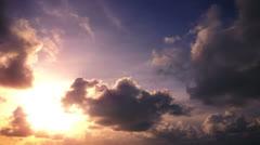 Long sky sunset timelapse video Stock Footage