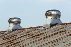 Roof ventilation Stock Photos