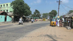 Tamil Nadu quaint motor cart and traffic 33 Stock Footage