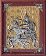 Stock Photo of thai silver engraving